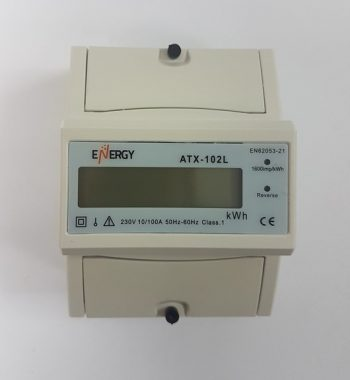 מונה חשמל דיגיטלי חד פאזי 4 מודול